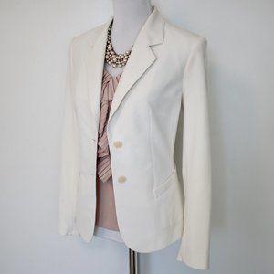 THE LIMITED Size 8 Ivory Suit Jacket Blazer